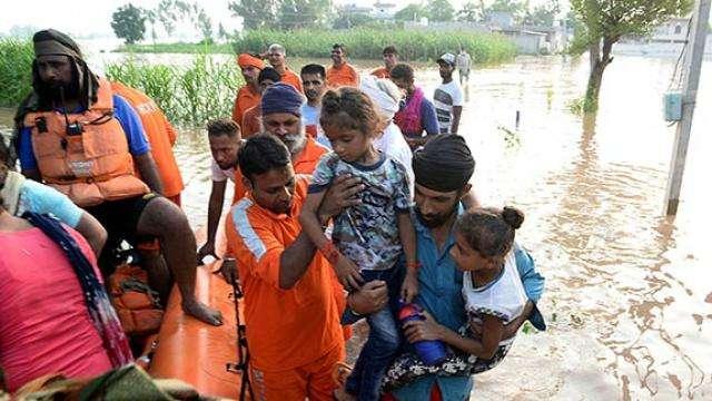 Image result for पंजाब में बाढ़