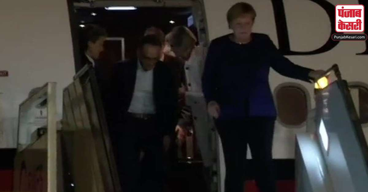 germany chancellor angela merkel india visit